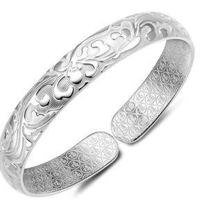 Jewelry - 925 Stamped SS Adjustable Cuff Bracelet NWT.
